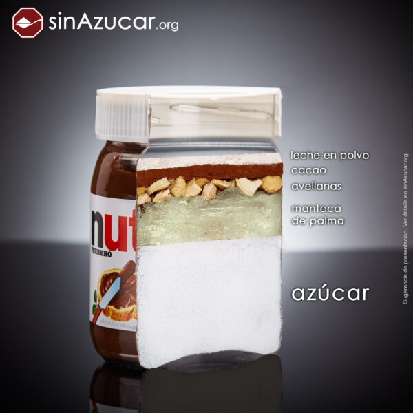 ¿cuánta azúcar tiene la Nutella?