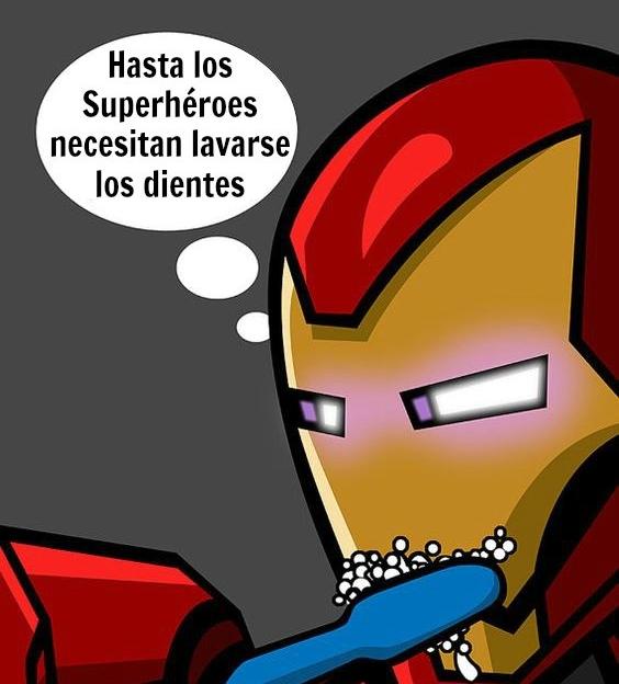 Ironman  también va al dentista